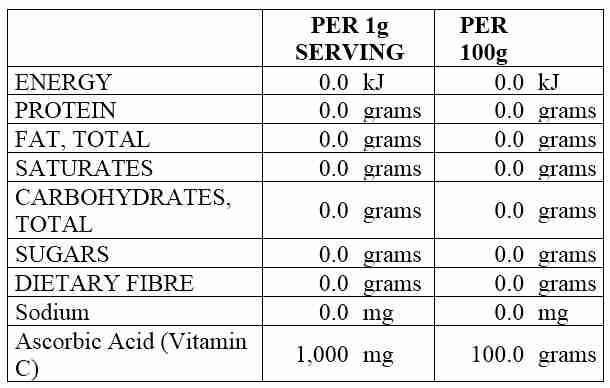 Vitamin C Powder Nutrition